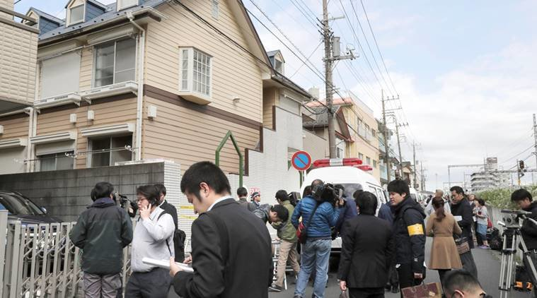The Gruesome Crime Scene was at Shiraishis Flat at Zama Western Suburb of Tokyo